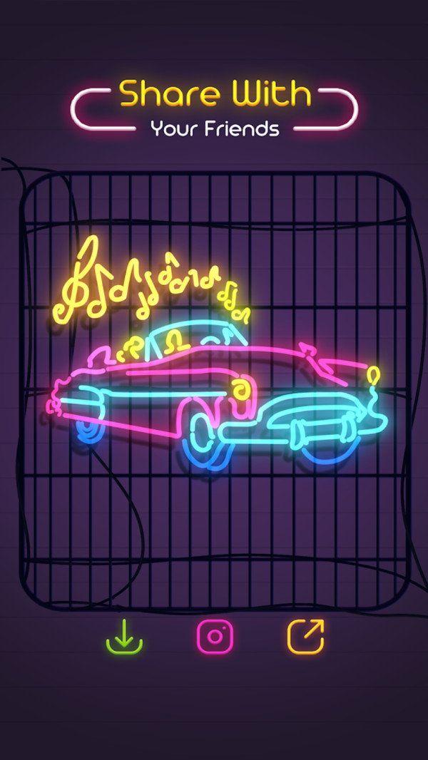 霓虹涂鸦截图