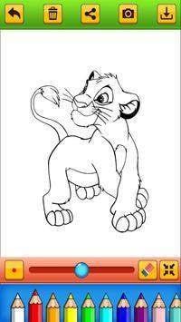 着色书狮子家族截图