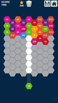 六角形2048截图