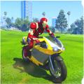 英雄駕駛摩托車