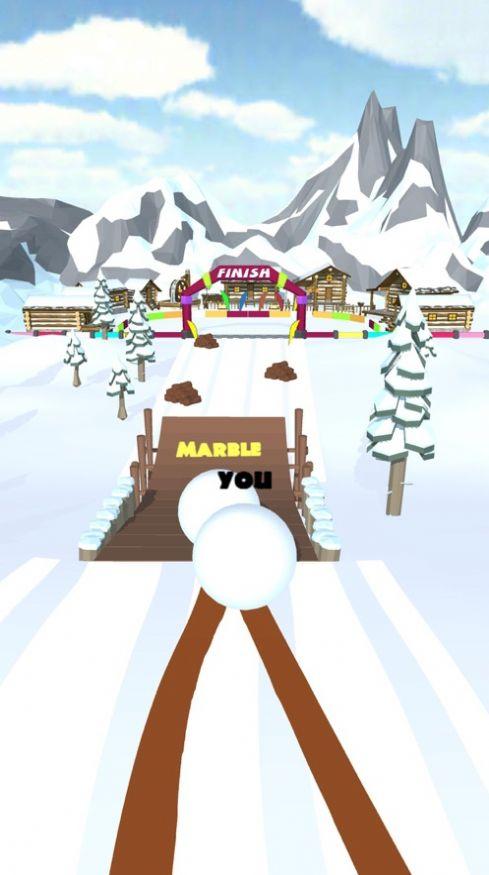 雪球滚动比赛截图