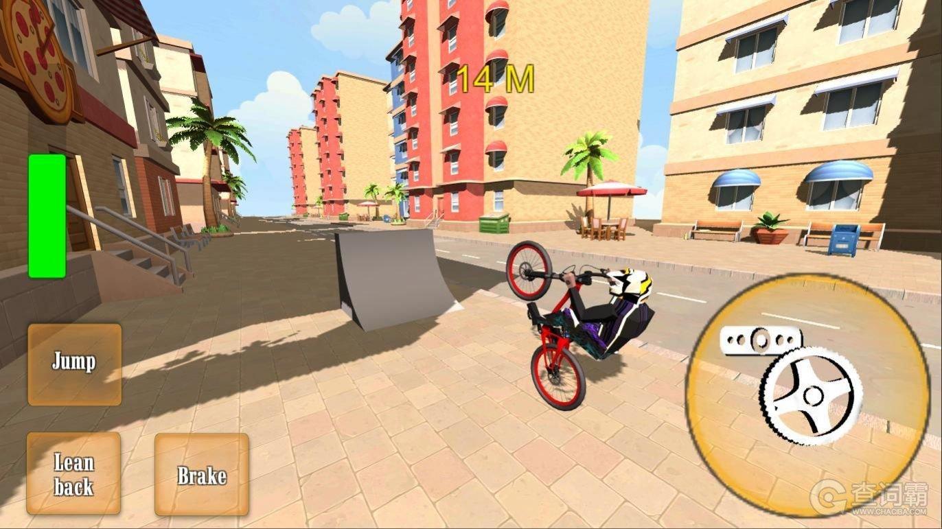 BMX自行车滑轮3D