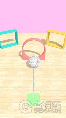 滚动的毛毛球