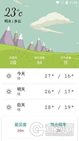 明日天气预报