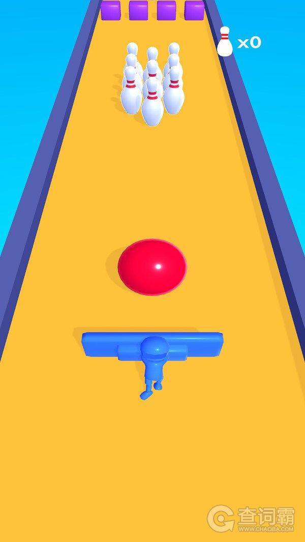 弹击保龄球游戏