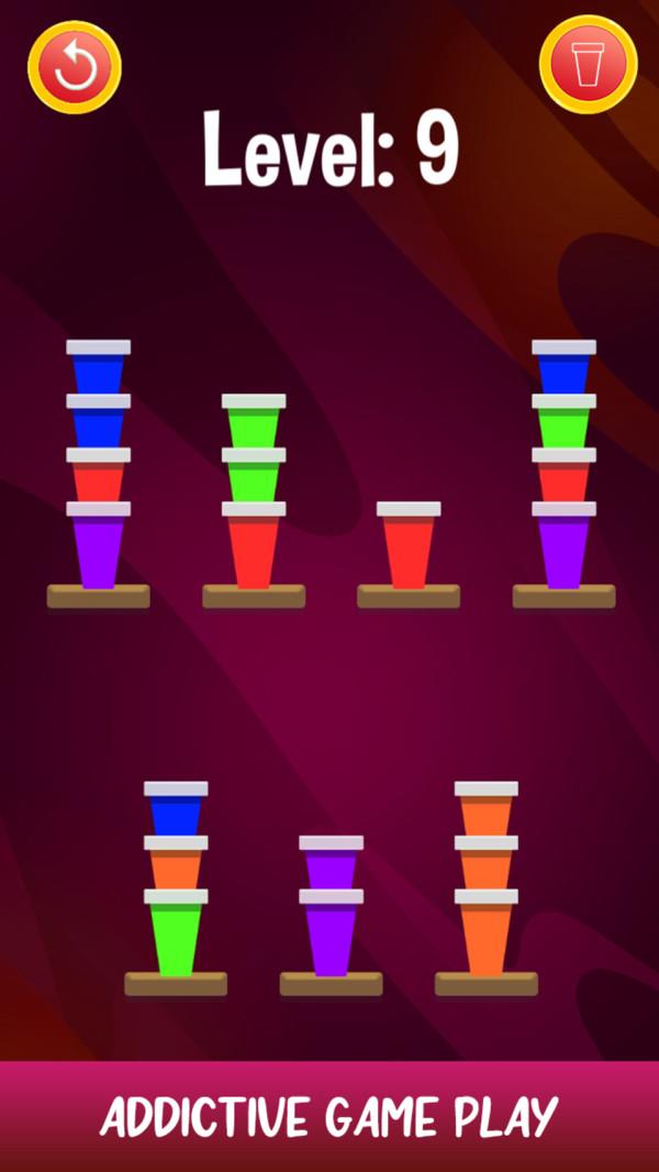 纸杯排序拼图截图
