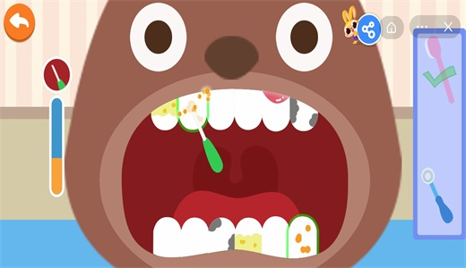 兔小萌爱刷牙